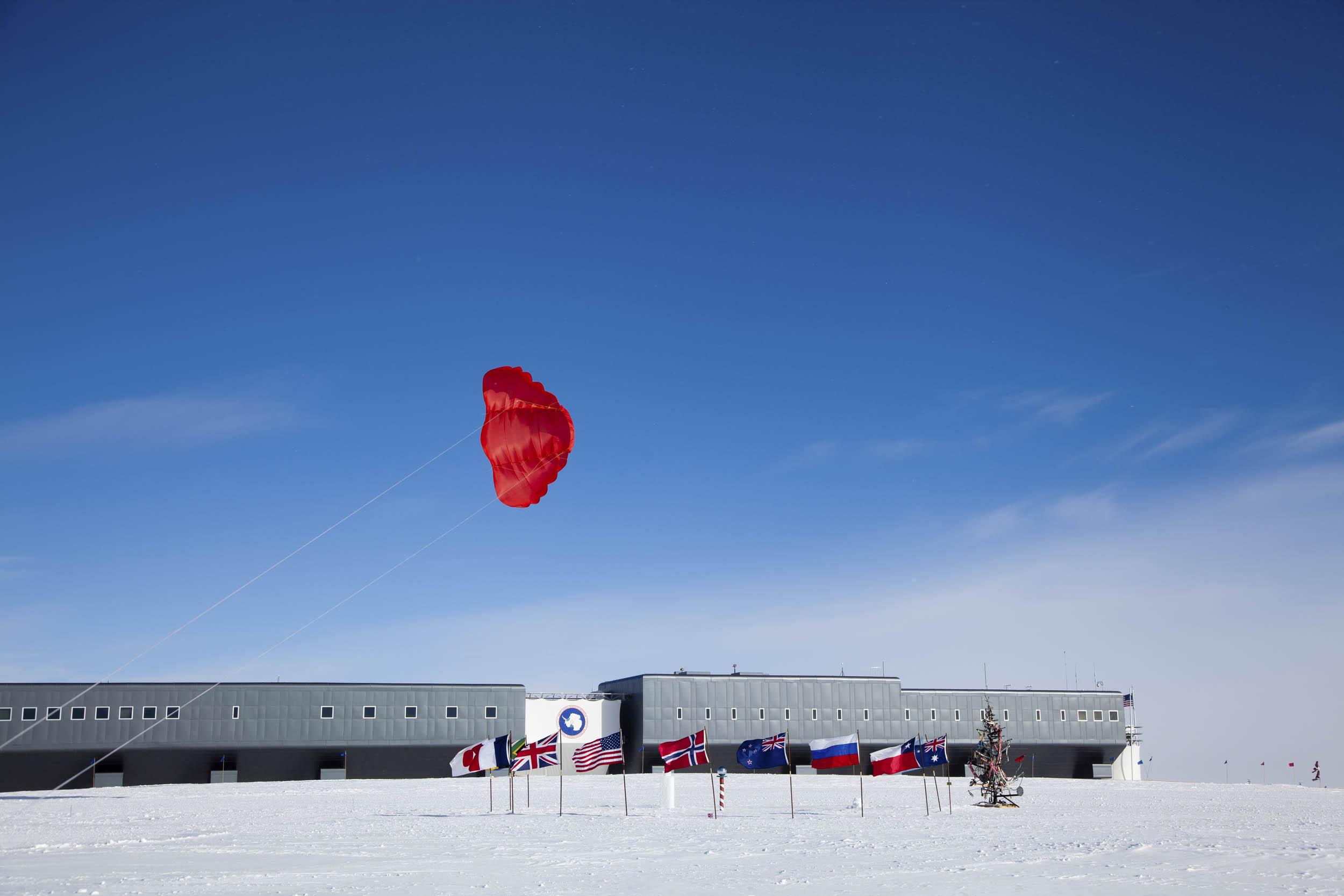 Base Amundsens-Scott-, en el Polo Sur Geográfico.