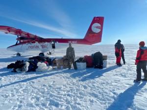 El avión se prepara para regresar a Kangerlussuaq.