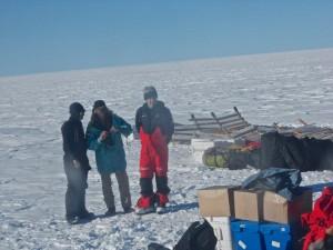 Con el trineo, en el hielo