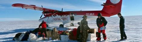 El Trineo de Viento sobre el hielo de Groenlandia