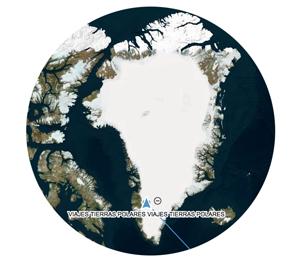 mapa del avance de la expedición