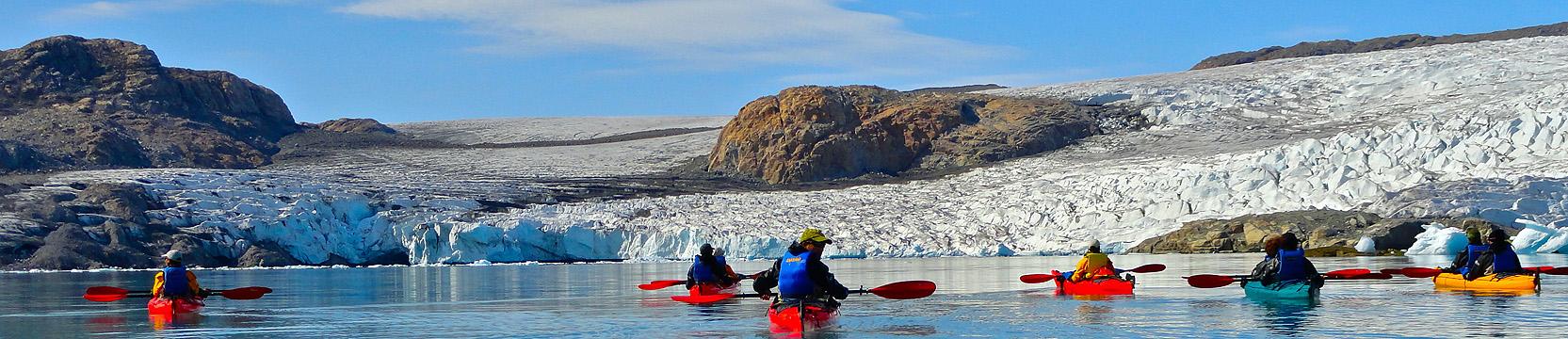 viajes a Groenlandia en verano con kayak