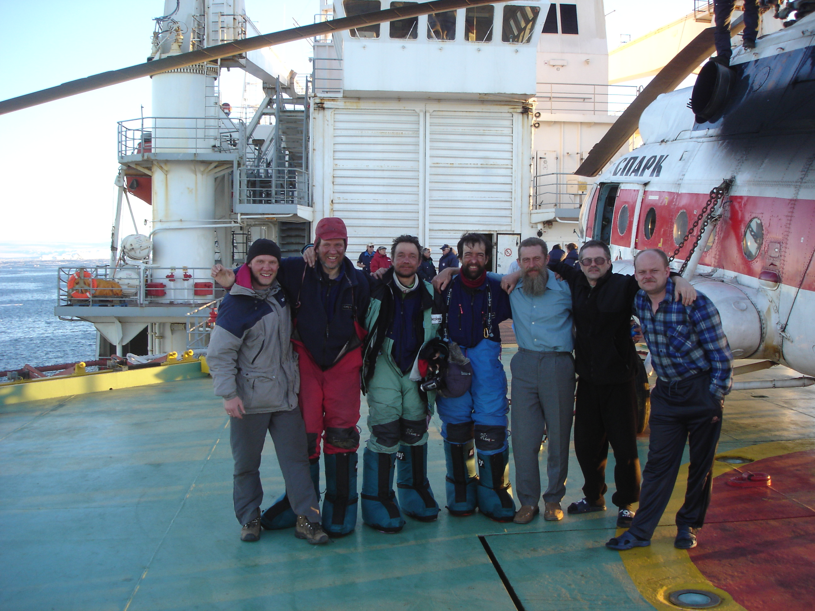 9 On board Akademik fedorov with Vostok crew.
