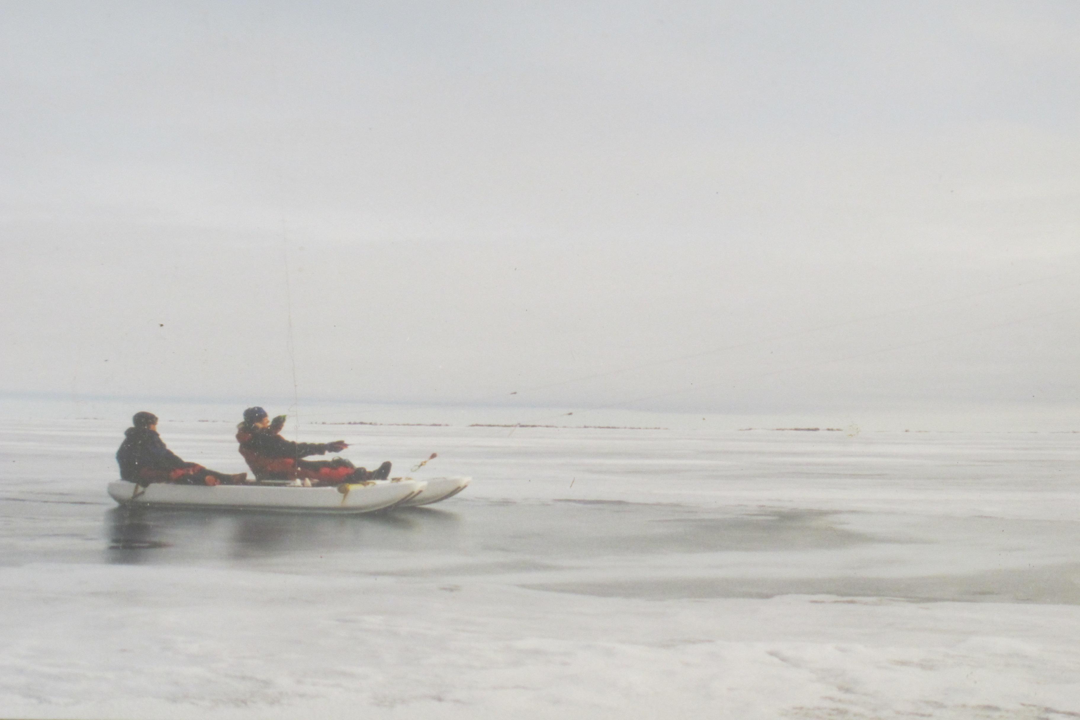 Pruebas en el Lago de los Esclavos, de Canadá.