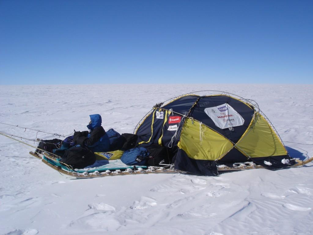 Sexto prototipo de Trineo de Viento, en la Antártida, 2011