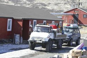 Salida hacia el aeropuerto de Kangerlussuaq, el sábado día 2, para ir al   hielo.