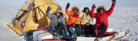 Juan Pablo Albar, Ignacio Oficialdegui, Javier Selva y Ramón Larramendi en la Antártida 2012.