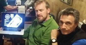 Jason Box con Ignacio Oficialdegui.