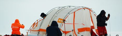 El Trineo de Viento llega al 'plateau' de la Antártida